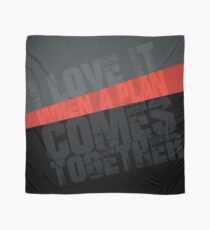 I Love It When a Plan Comes Together Typography Graphic (The A-Team) Scarf