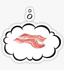 thinking of about bacon Sticker
