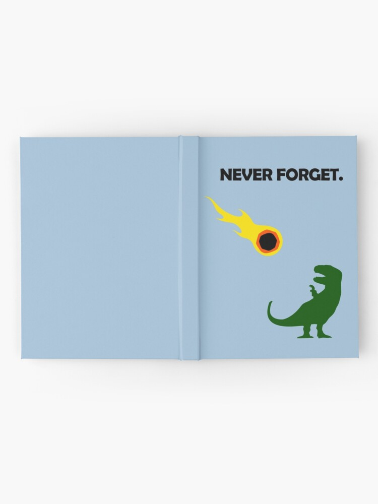Alternate view of Never Forget (Dinosaurs) Hardcover Journal