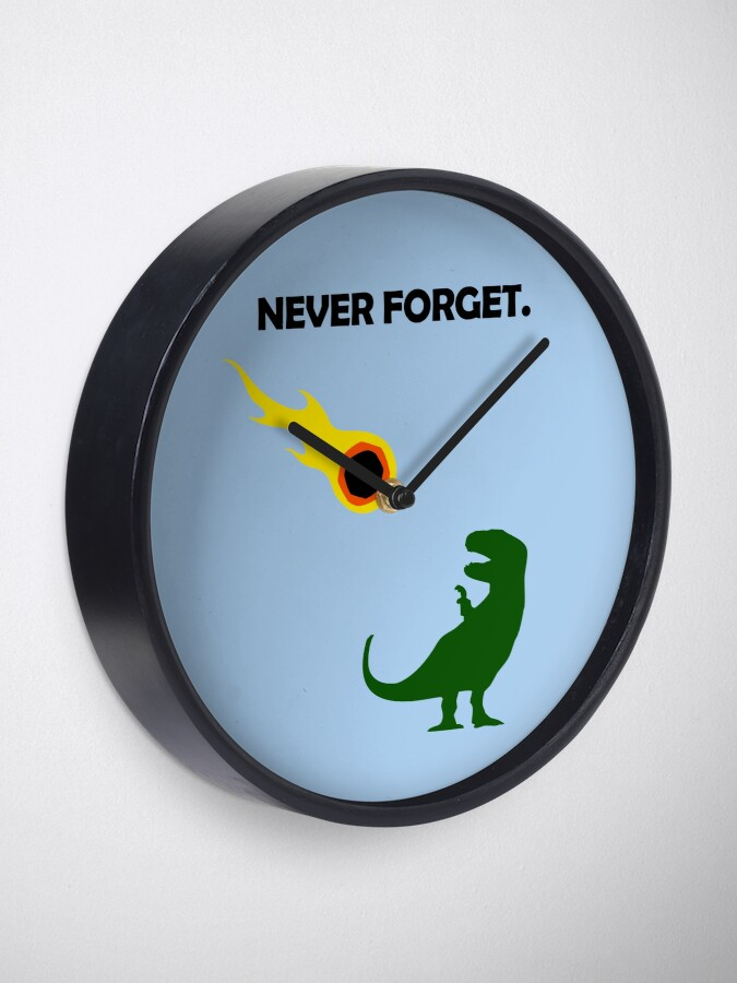 Alternate view of Never Forget (Dinosaurs) Clock