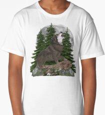Wolf Howl Moon Long T-Shirt