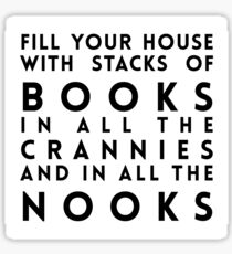 Dr. Seuss Fill Your House with Stacks of Books Sticker