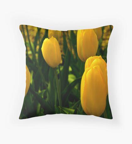 Araluen yellow Throw Pillow