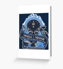 Mines of Moria Greeting Card