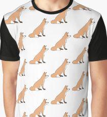 Sitting Fox Graphic T-Shirt