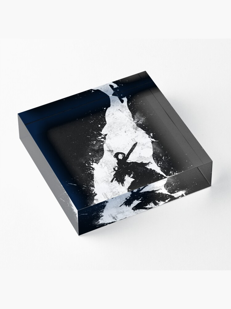 Alternate view of Abyss Warrior Acrylic Block