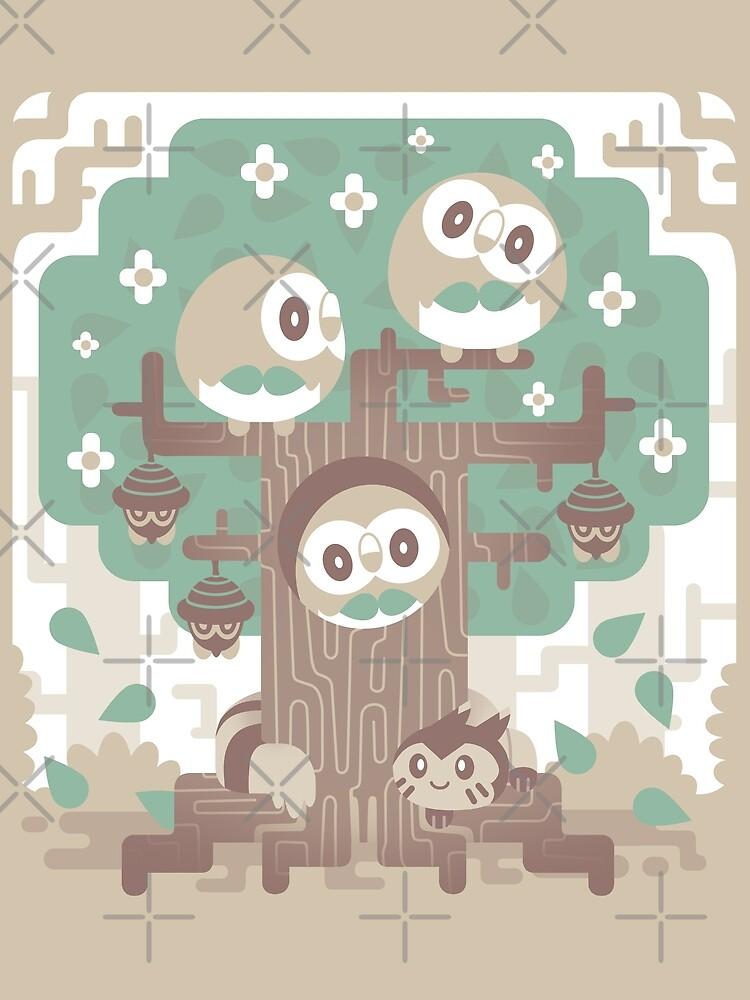 Holz Eule Holz von Versiris