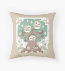 Wood Owl Woods Throw Pillow