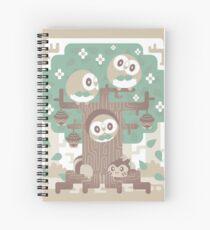 Wood Owl Woods Spiral Notebook