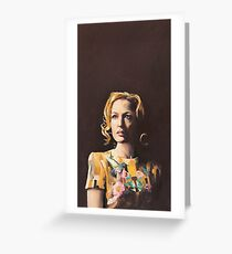 Gillian Anderson Hummingbird Dress Original Painting Greeting Card