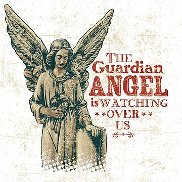 """The Guardian Angel is Watching Over Us"" T-shirt Premium by gerand"
