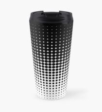 Black And White Dots Travel Mug