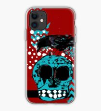 Crow and Skull Contemplation  iPhone Case