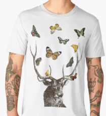 The Stag and Butterflies Men's Premium T-Shirt