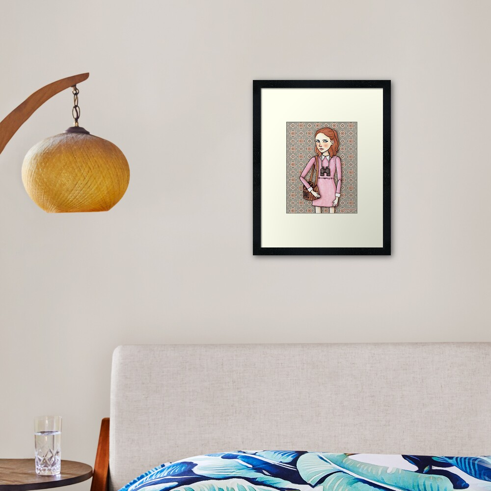 Suzy from Moonrise Kingdom Framed Art Print
