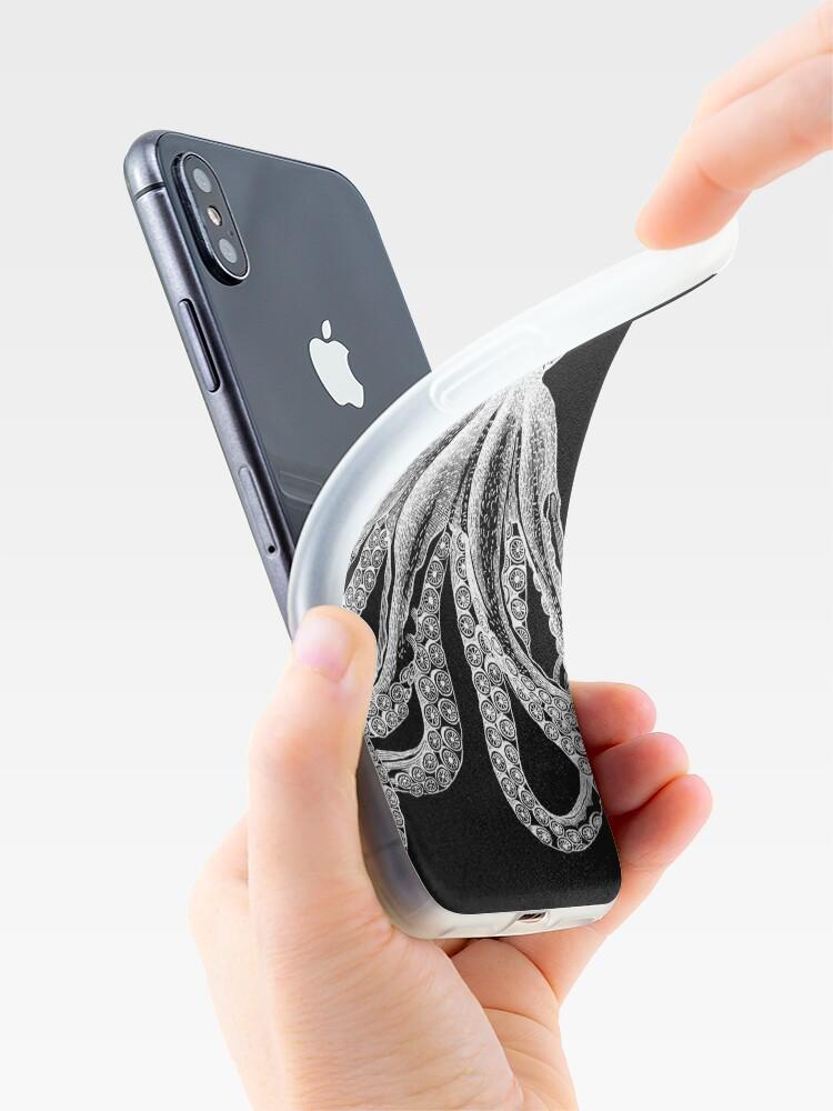 Alternative Ansicht von Oktopus | Schwarz und weiß iPhone-Hüllen & Cover