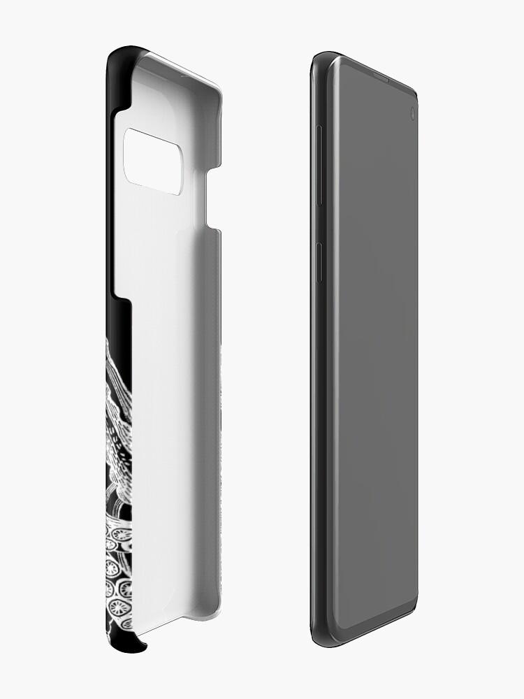 Alternative Ansicht von Krake | Weinlese-Krake | Tentakeln | Diptychon | Schwarz und weiß | Hülle & Klebefolie für Samsung Galaxy
