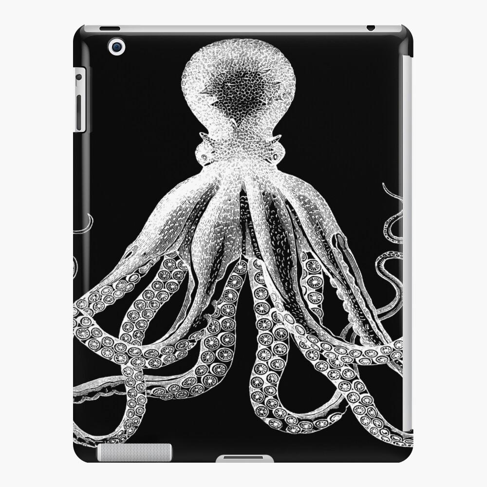 Octopus | Vintage Octopus | Tentacles | Sea Creatures | Nautical | Ocean | Sea | Beach | Black and White |  iPad Case & Skin