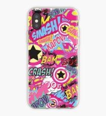 Comic Freak (Rosa) iPhone-Hülle & Cover