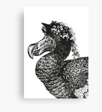 Mrs Dodo | Black and White Canvas Print