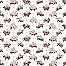 Flying Pigs Pattern   Vintage Pigs   When Pigs Fly   Pigs with Wings    by EclecticAtHeART
