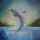 Dolphin Swim by Adam Santana