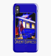 ORIENT EXPRESS: Vintage Train Passenger Travel Print iPhone Case/Skin