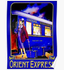 ORIENT EXPRESS: Weinlese-Zug-Passagier-Reise-Druck Poster