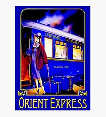 ORIENT EXPRESS: Vintage Train Passenger Travel Print Photographic Print