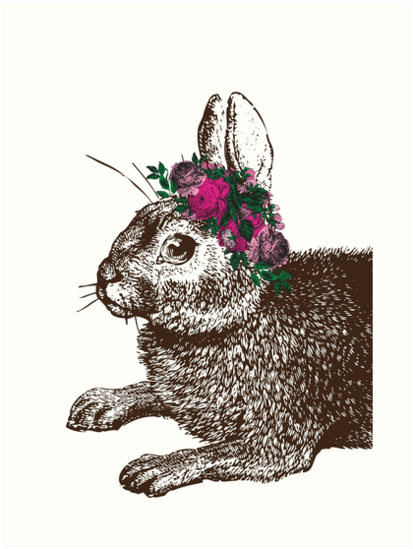 The Rabbit and Roses by EclecticAtHeART