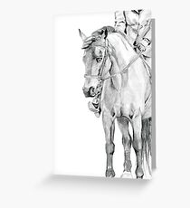 Horse Show Greeting Card