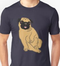 Adorable and Happy Fawn Pug T-Shirt