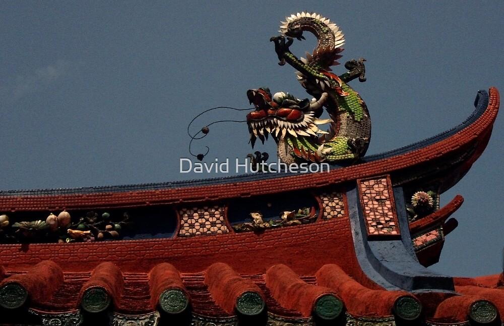 Goddess of Mercy (Quan Yin) Temple - Roof Dragon by David Hutcheson