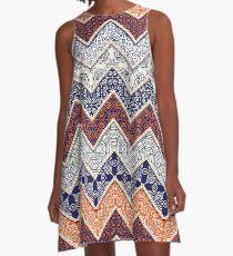 Auburn Floral Pattern Gameday Dress A-Line Dress