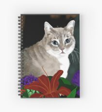 Tinkerbell Kitty and Flowers Spiral Notebook