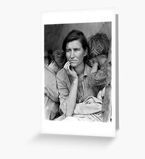 Migrant Mother by Dorothea Lange, 1936  Greeting Card