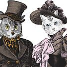 The Owl and the Pussycat   Anthropomorphic   Vintage Owls   Vintage Cats    by EclecticAtHeART