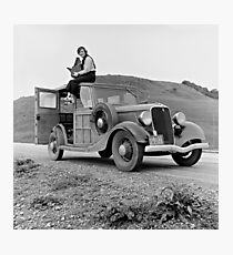 Dorothea Lange on Car, 1936 Photographic Print