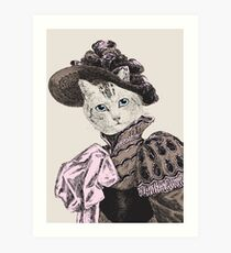 Pussycat Portrait | No. 2 of 2 from The Owl and the Pussycat Set Art Print