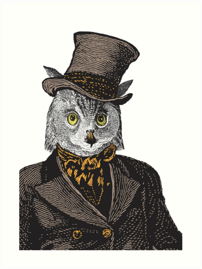 Owl Portrait | No.1 of 2 from The Owl and the Pussycat Set by EclecticAtHeART