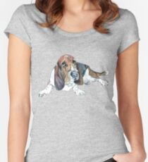 Basset Hound Women's Fitted Scoop T-Shirt