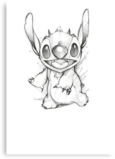 Stitch Sketch Canvas Print By Denersilva Redbubble