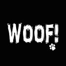 Woof!   Black and White    by EclecticAtHeART