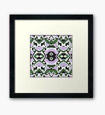 Southwest Forest Aztec pattern Framed Print