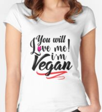 I'm Vegan Women's Fitted Scoop T-Shirt