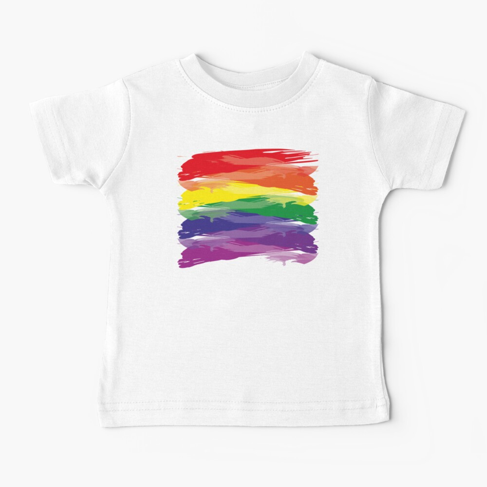 Abstract Rainbow   Rainbow Colors   Stripe Patterns   Striped Patterns   Baby T-Shirt