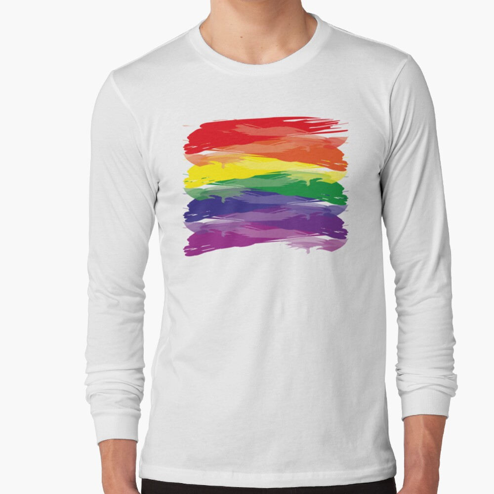 Abstract Rainbow | Rainbow Colors | Stripe Patterns | Striped Patterns | Long Sleeve T-Shirt