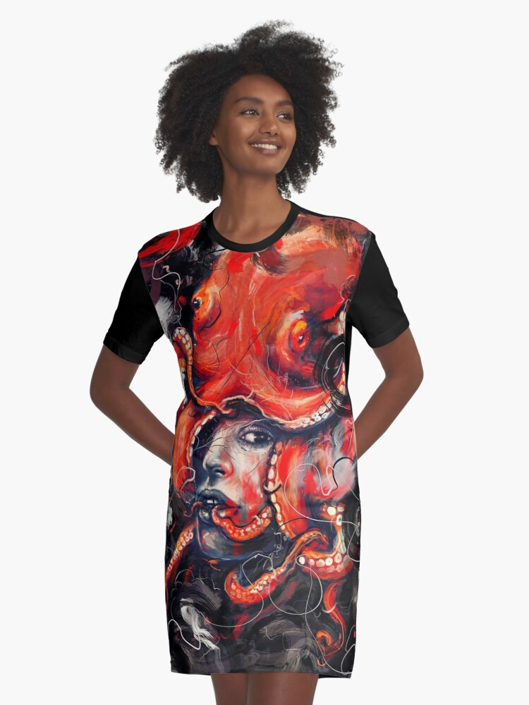 Empress Octo Graphic T-Shirt Dress Front