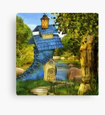 Blue Shoe House Canvas Print