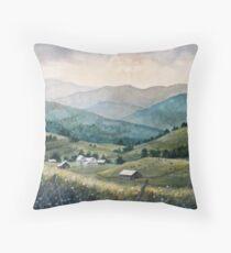 Mountain Valley Farm Throw Pillow